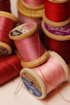 Red and Pink Thread by Victoria Bennett Beyer, via Flickr
