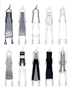 Fashion Portfolio - fashion design sketches; fashion illustration; fashion sketchbook // Justine W. Lee