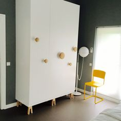 Ikea Pax hack with Muuto dots, on Superfront legs