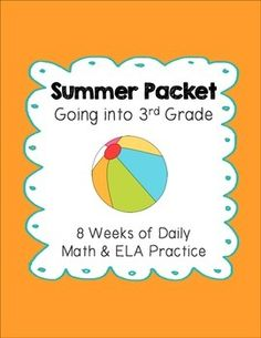 Help prevent the summer slide with this summer packet for students leaving 2nd grade and heading into 3rd grade. My parents love receiving this 2nd grade review packet at the end of every school year. I also included an answer key so parents can quickly and easily correct their child's work.This product includes 8 weeks of daily spiral review for each weekday, Monday-Friday, for a total of 40 student pages and 8 reading passages.