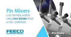 Pin mixers can densify pellets using less binder than a disc pelletizer. #facts #pinmixer #pinmixers #agglomeration #pellets #discpelletizer #discpelletizers