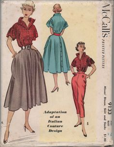 McCall's 9133 vintage sewing pattern | Adaptation of an Italian Couture Design