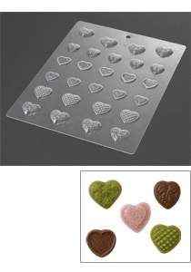 mold for design heart chocolates