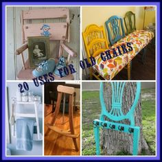 PJH Designs Hand Painted Antique Furniture: New Uses For Old Chairs