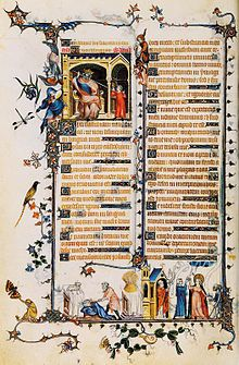 Jean Pucelle (c. 1300 – was a Parisian Gothic-era manuscript illuminator, active between 1320 and from the Belleville Breviary by Jean Pucelle Medieval Life, Medieval Art, Medieval Books, Medieval Clothing, Renaissance Art, Medieval Manuscript, Illuminated Manuscript, Illuminated Letters, Web Gallery Of Art