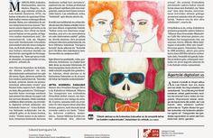 "LOLA KABUKI ENTREVISTADA EN EL PERIÓDICO ""DEIA"" | Lola Kabuki  #love #art #watercolor #paintings #illustration"