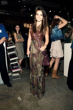 Miroslava Duma I can do this! #leather #camouflage #couture