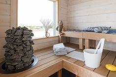Beautiful accessories in a small but nice sauna