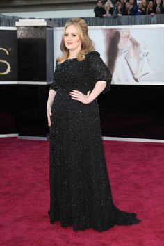 """I read this as """"Adele as a blueberry."""" #oscarfashion 2013 Adele is in Burberry."""