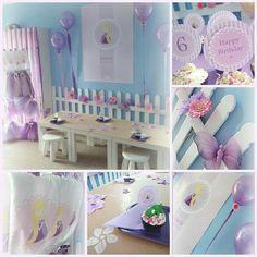 Fiesta para niñas en lila
