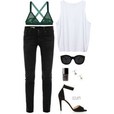 202 by szum on Polyvore featuring Zara, AG Adriano Goldschmied, Lonely, Topshop, Le Specs and Chanel