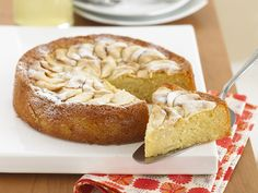 This deliciously fruity cake is a cross between a cake and a pudding - and all the better for it! The ground almonds lend a wonderfully moist texture to this cake.