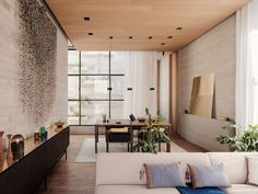 Studio Rick Joy Combines Brutalist Rigour with Sculptural Finesse in an Apartment Building in Mexico City | Yatzer Patio Interior, Apartment Interior, Interior Design, Dream Apartment, Modern Interior, Luz Natural, Apartment Complexes, House Studio, Casement Windows