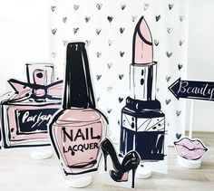 Cosmetic Shop, Cosmetic Design, Fashion Window Display, Classy And Fab, Nail Salon Decor, Instagram Frame, Store Displays, Event Decor, Cute Wallpapers