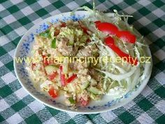 Kuřecí salát s kuskusem Potato Salad, Cabbage, Salads, Cooking Recipes, Potatoes, Vegetables, Ethnic Recipes, Food, Bulgur