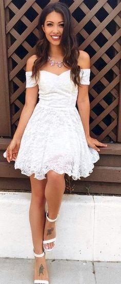 #summer #trending #outfitideas | Little White Dress