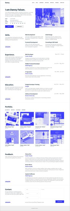 Check out new work on my @Behance portfolio  - web developer resumes