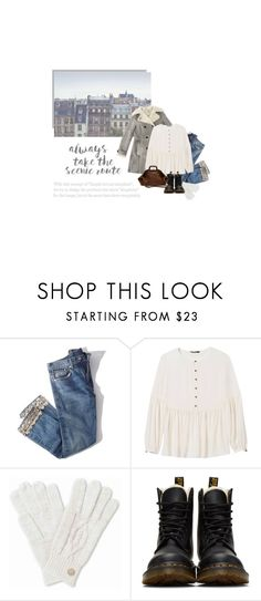 """""""The Simple Life"""" by catchsomeraes ❤ liked on Polyvore featuring Brock Collection, Banana Republic, Dr. Martens, Mulberry, denim and Boots"""