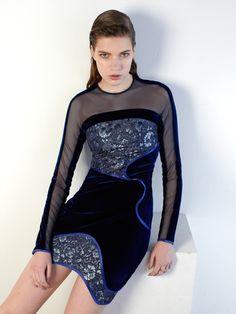 BLUE STEEL Dress #THREEFLOOR #AW15