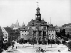 The City Hall in 1900, Lüneburg, Germany
