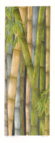 Original Botanical Watercolor Paintings Gouache Painting, Silk Painting, Painting & Drawing, Bamboo Art, Caribbean Art, Hawaiian Art, Chinese Painting, Pictures To Draw, Art Techniques
