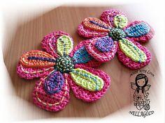 Crochet PATTERN, Applique Big Flower, DIY Pattern 12