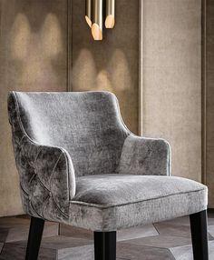 Kapitonierter gepolsterter Stuhl aus Stoff ROYALE BACK CAPITONÉ by Casamilano Design Castello Lagravinese