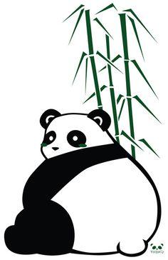 Big Butt Panda Art Print by pmbq | Society6