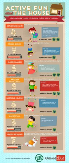 Staying active indoors this fall | Kids will love these activities that can be found around the house.