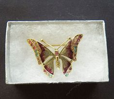 $7.00 Goldtone Butterfly Pin (9615-1422MS) jewelry, fashion, collectibles #Butterfly