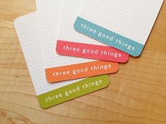Look for the positive: a story of three good things + a printable card download for you - Bits&Pieces