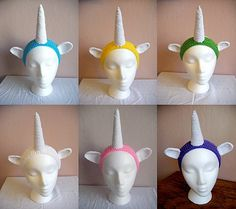 Unicorn headband in different colors available in my Etsy shop: https://www.etsy.com/listing/115232945/unicorn-headband-multiple-colors?ref=shop_home_active_7