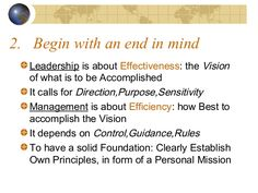 A Summary - The 7 habits of highly effective people Stephen Covey