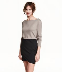 Check this out! Top in soft jersey with a slight sheen, with a boat neck and long sleeves. - Visit hm.com to see more.