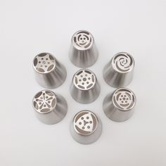 7 PCS/Lot Russian Tulip Stainless Steel Icing Piping Nozzles Tips