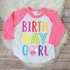 Birthday girl shirt- Peppa pig version, peppa pig birthday shirt, peppa pig birthday, peppa pig party, peppa pig theme party, fairy RAINBOW by JADEandPAIIGE on Etsy https://www.etsy.com/listing/591044031/birthday-girl-shirt-peppa-pig-version