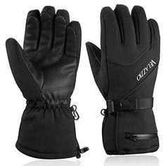 Ski Gloves - VELAZZIO Waterproof Breathable Snowboard Gloves, Thinsulate Insulated Warm Winter Snow Gloves, Fits both Men & Women Best Winter Gloves, Best Gloves, Snowboard Gloves, Mens Outdoor Clothing, Best Skis, Ski Touring, Cold Weather Gloves, Mitten Gloves, Mittens