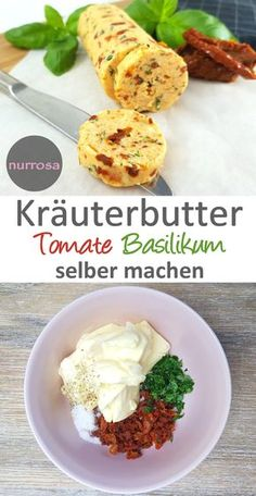 "Kräuterbutter selber machen ""Tomate Basilikum"" – nurrosa"
