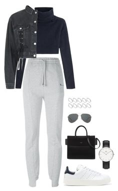 """Untitled #2731"" by chanelzizzles ❤ liked on Polyvore featuring Vetements, Valentino, Topshop, adidas Originals, ASOS, Daniel Wellington, Givenchy and Yves Saint Laurent"