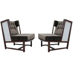 - Rare pair of wing chairs by Edward Wormley for Dunbar explore items… Industrial Design Furniture, Funky Furniture, Sofa Furniture, Sofa Chair, Outdoor Furniture Sets, Furniture Design, Bar Stool Chairs, Eames Chairs, Wing Chairs
