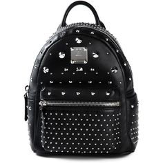 MCM Stark Backpack ($1,211) ❤ liked on Polyvore featuring bags, backpacks, black, mcm bags, backpacks bags, black backpack, black bag and mcm backpack