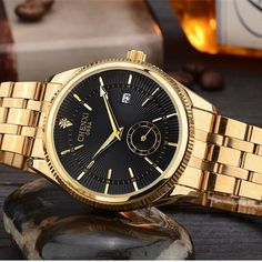 2016 New Fashion CHENXI Watch Gold Color Mens Watches casual Top Brand Luxury Hot Selling men Watch Steel Dress Watches
