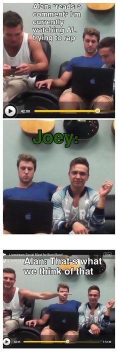 Joey's face! Hahaha!!