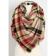 maurices Soft Patchwork Plaid Scarf, Women's, ($29) ❤ liked on Polyvore featuring accessories, scarves, plaid scarves, plaid shawl, tartan plaid scarves, tartan shawl and acrylic scarves