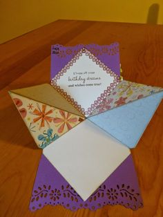 The Yellow Craft Room: Squashed Diamond Fold Tutorial
