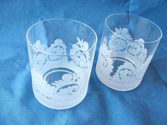 Marimekko-Samovaari-Glass-Isola-Vintage-Rare-Set-of-2