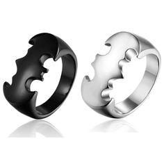 Mimeng  Batman Titanium Rings for Men Personality Stainless Steel Rings Fashion Jewelry Punk Style Ring Exaggerate Men Jewelry-in Rings from Jewelry & Accessories on Aliexpress.com | Alibaba Group