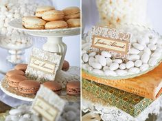 candy tags.LOVE is Sweet ~ elegant dessert and candy table   San Diego Wedding Blog