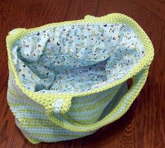 Great Crochet Diaper bag and could totally make a wet bag for cloth diapers with PUL material