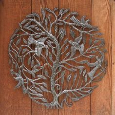 Recycled Metal Tree of Life Wall Art